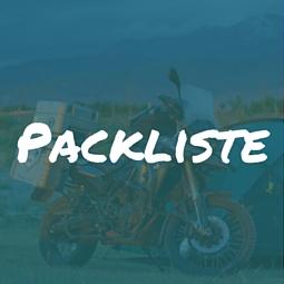 Packliste für Motorradreise
