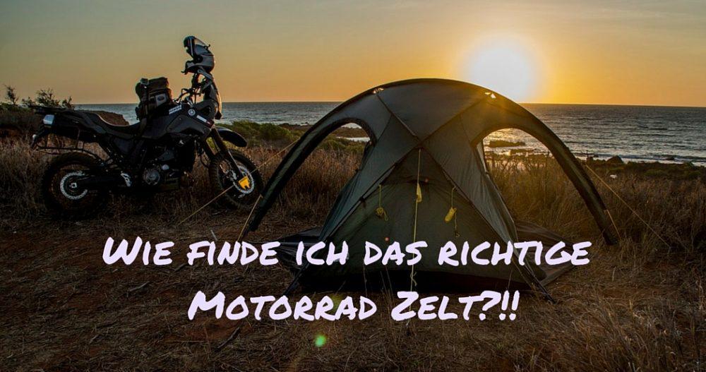 Das Passende Motorrad Zelt Für Jeden Reisetyp Ps Muss Nicht Teuer